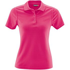 Maier Sports Ulrike Polo Shirt Women fandango pink